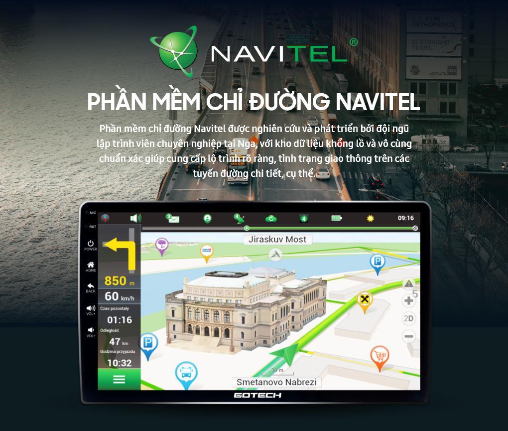 Cài đặt phần mềm Navitel tìm kiếm thông tin lộ trình và cảnh báo