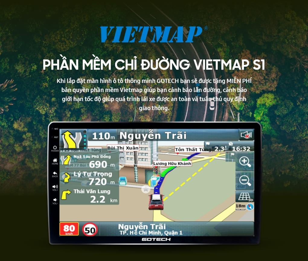 Dẫn đường thông minh nhờ phần mềm Vietmap bản quyền