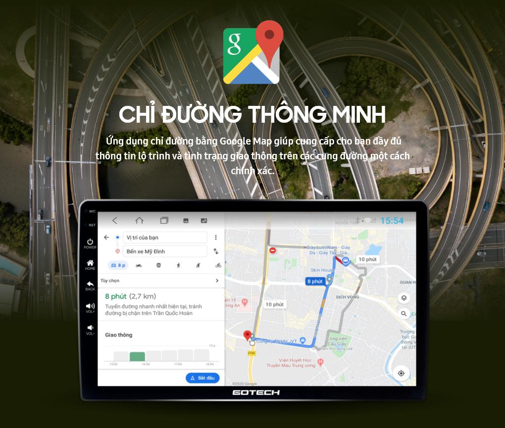 Chỉ đường thông minh nhờ bản đồ Google Map