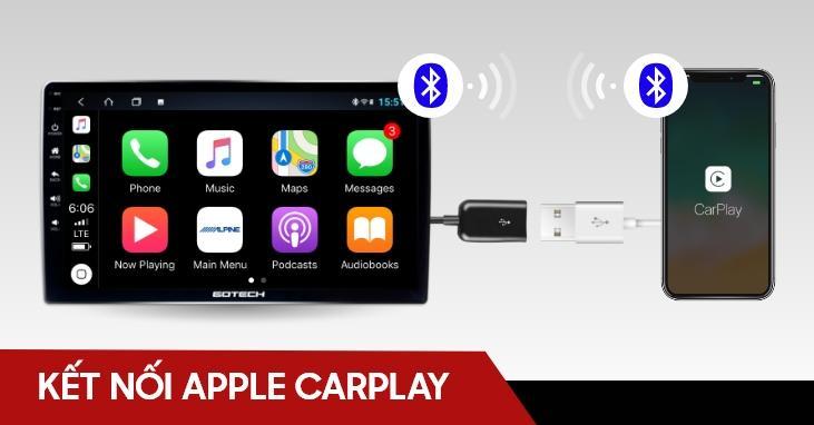 Kết nối Apple Carplay trên màn hình ô tô thông minh GOTECH