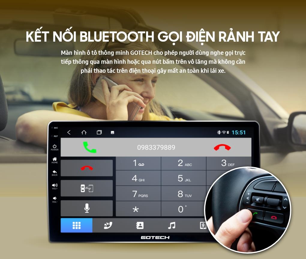 Kết nối Bluetooth để nghe gọi trên màn hình GOTECH