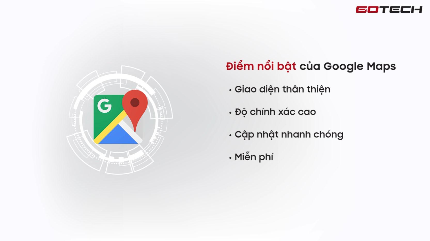 Lợi ích của việc sử dụng ứng dụng chỉ đường Google Map trên màn hình GOTECH