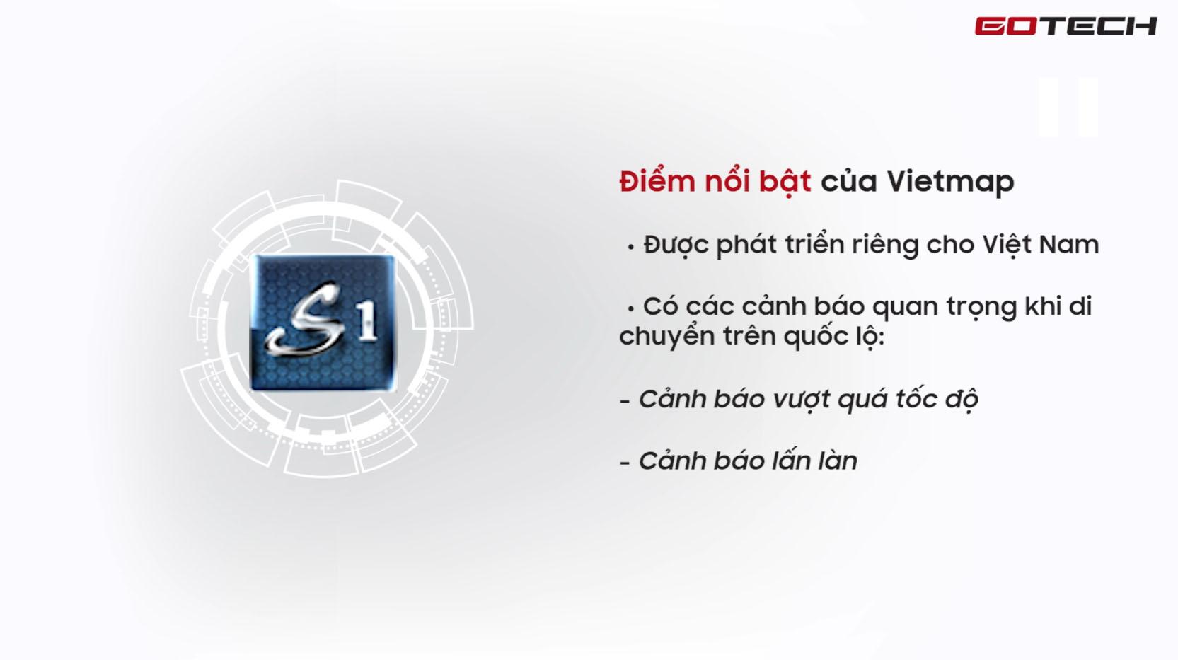 Lợi ích của việc sử dụng ứng dụng chỉ đường Vietmap trên màn hình GOTECH