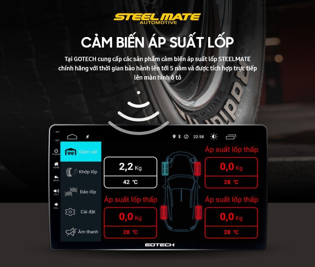 Tích hợp cảm biến áp suất lốp lên màn hình GOTECH