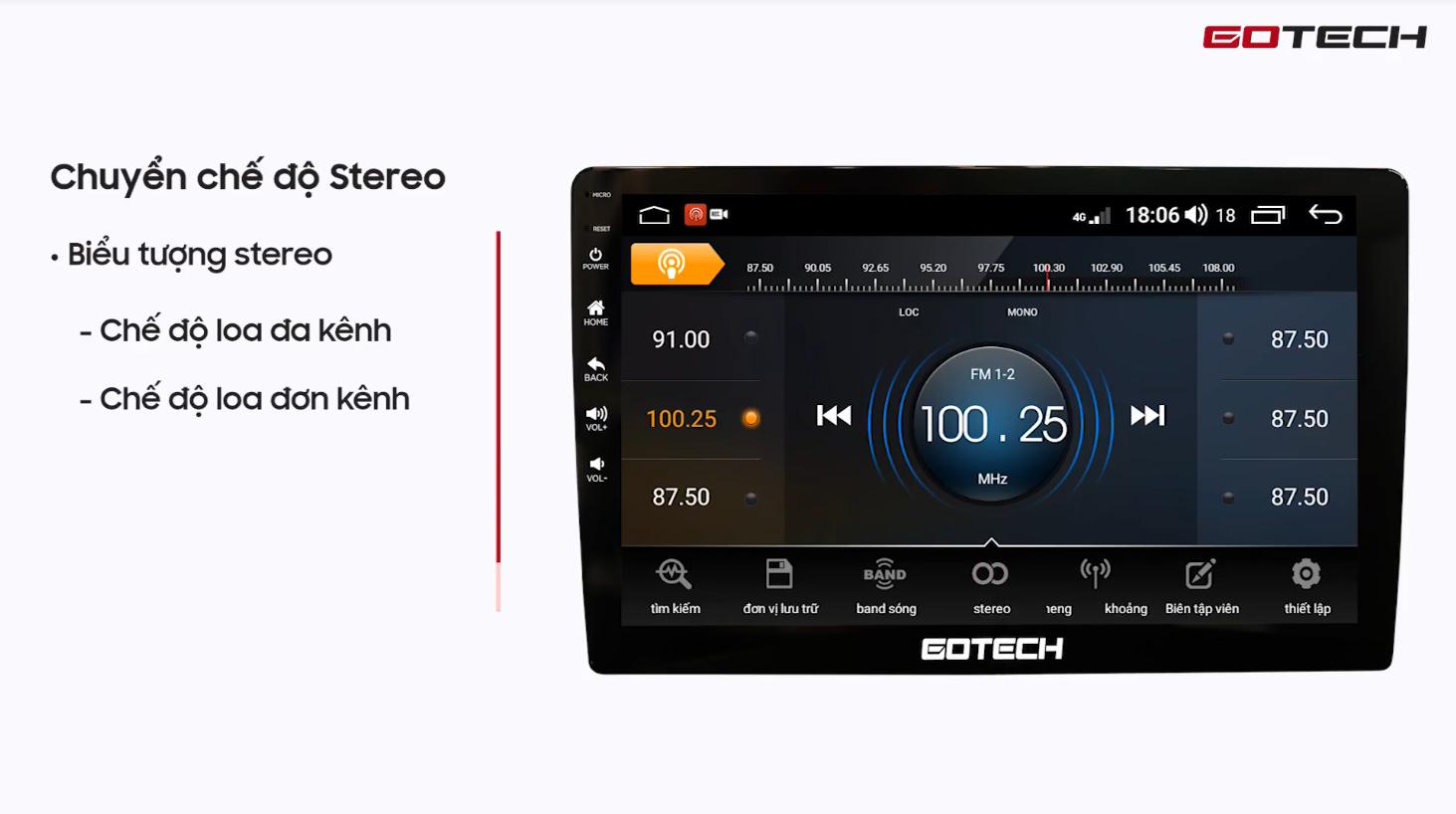 Hướng dẫn nghe Radio trên màn hình Gotech