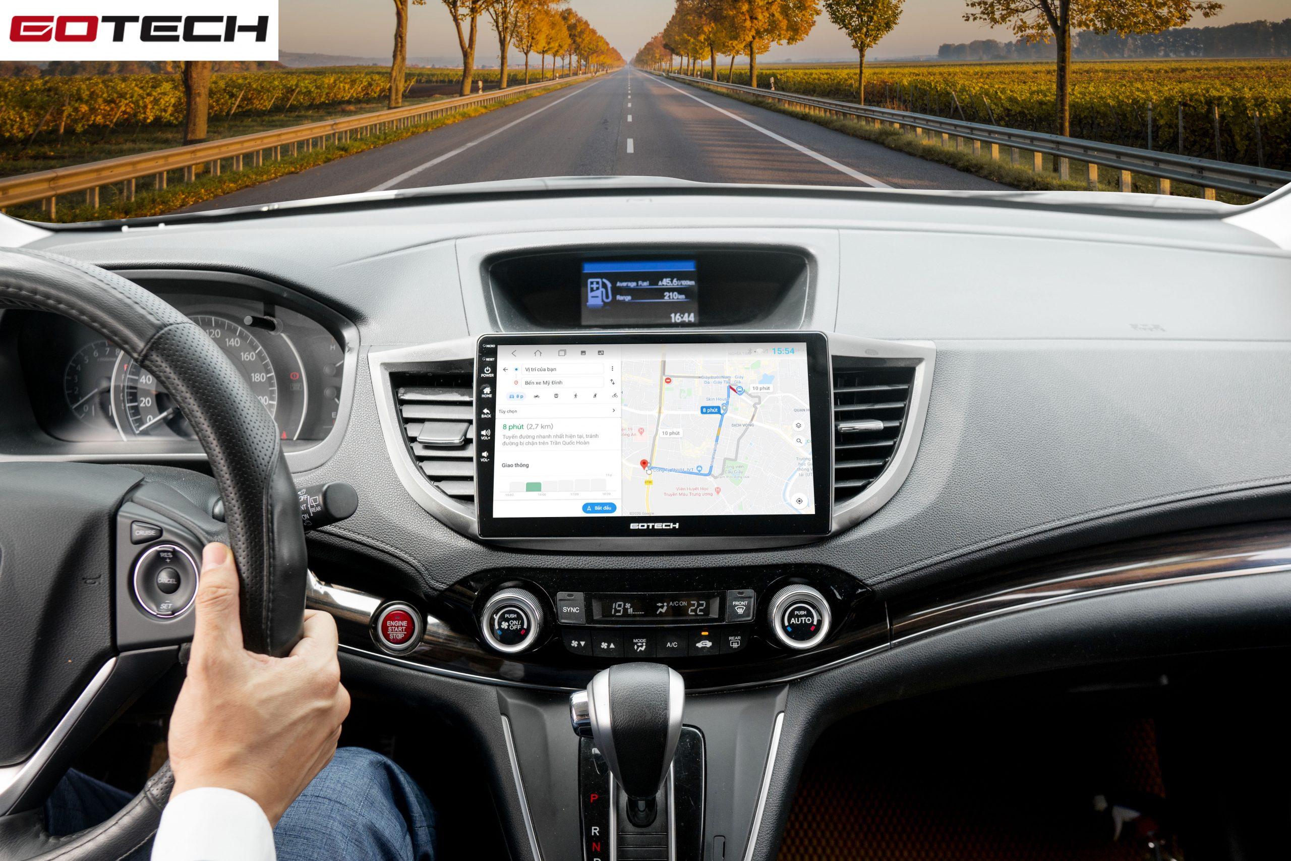 Màn hình ô tô GOTECH GT8 Max chỉ đường thông minh