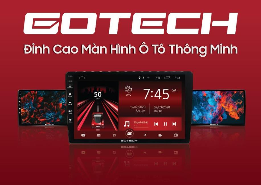 Giao diện màn hình ô tô GOTECH GT6