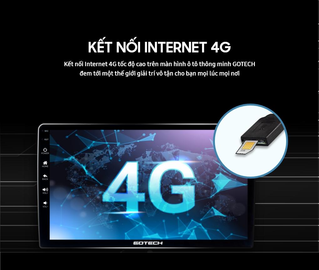 Màn hình GOTECH sử dụng sim 4G kết nối internet tốc độ cao
