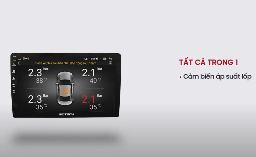 Việc tích hợp các loại Camera ô tô của GOTECH GT6 giúp bạn theo dõi dễ dàng và lái xe an toàn hơn