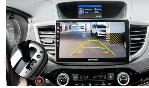 Tích hợp camera trên màn hình ô tô thông GOTECH GT6