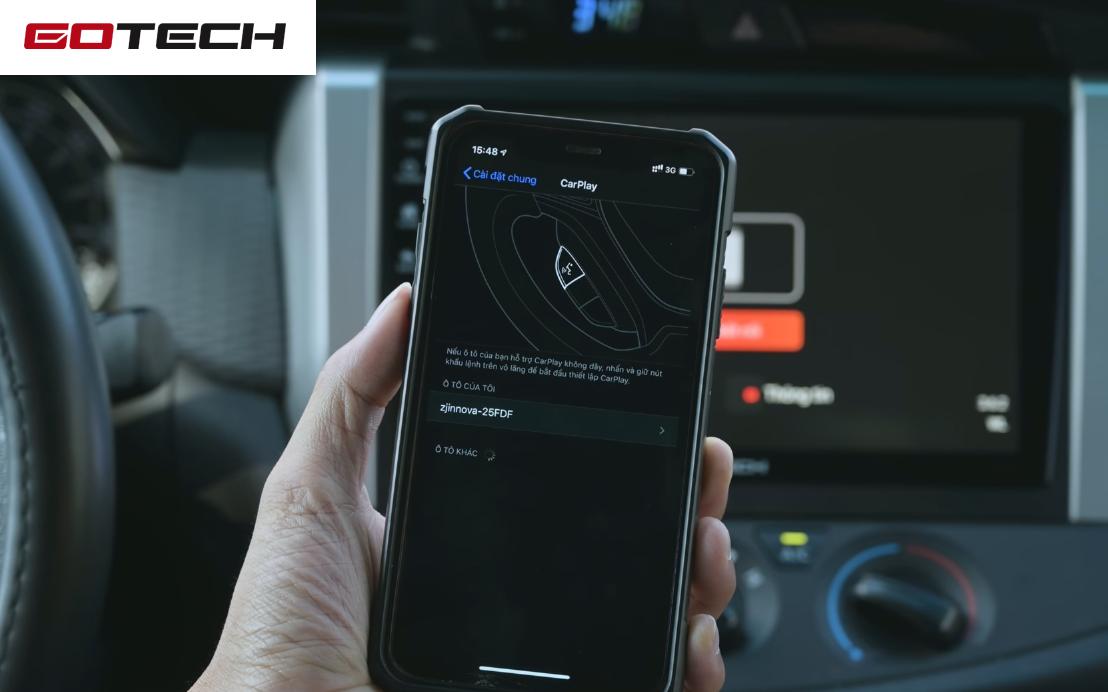 Kết nối Apple CarPlay với màn hình ô tô GOTECH