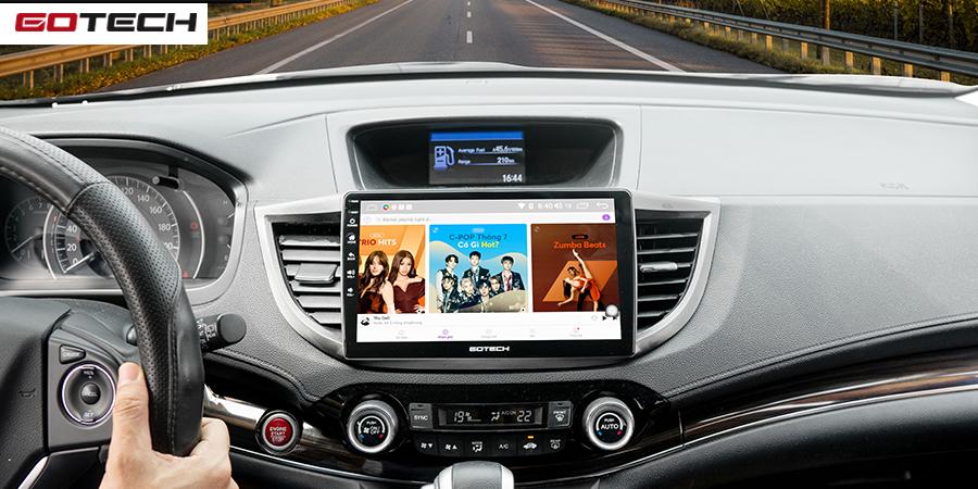 Bạn có thể trải nghiệm nhiều tính năng giải trí trên màn hình GOTECH