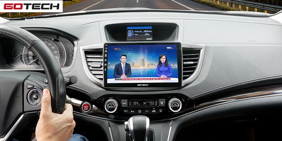 Xem tin tức thời sự cùng màn hình ô tô GOTECH