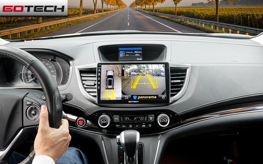 Màn hình ô tô GOTECH GT6 tích hợp màn hình Camera