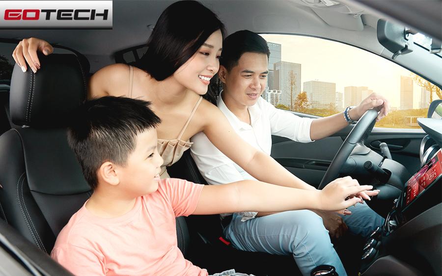 Màn hình ô tô GOTECH GT8 phù hợp với những gia đình có con nhỏ