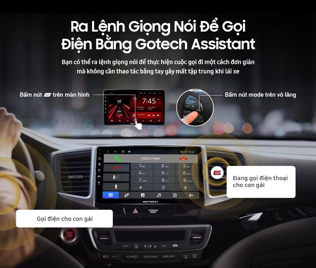 Phần mềm điều khiển bằng giọng nói trên màn hình ô tô GOTECH