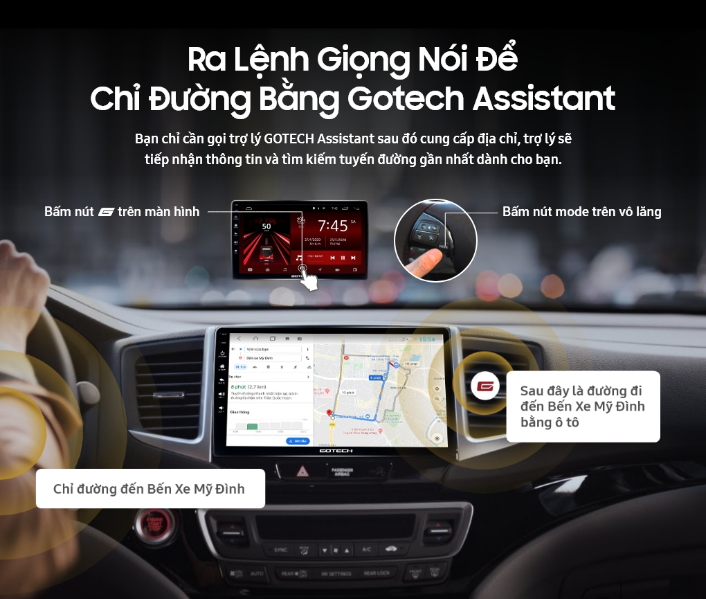 Phần mềm ra lệnh giọng nói trên màn hình GOTECH