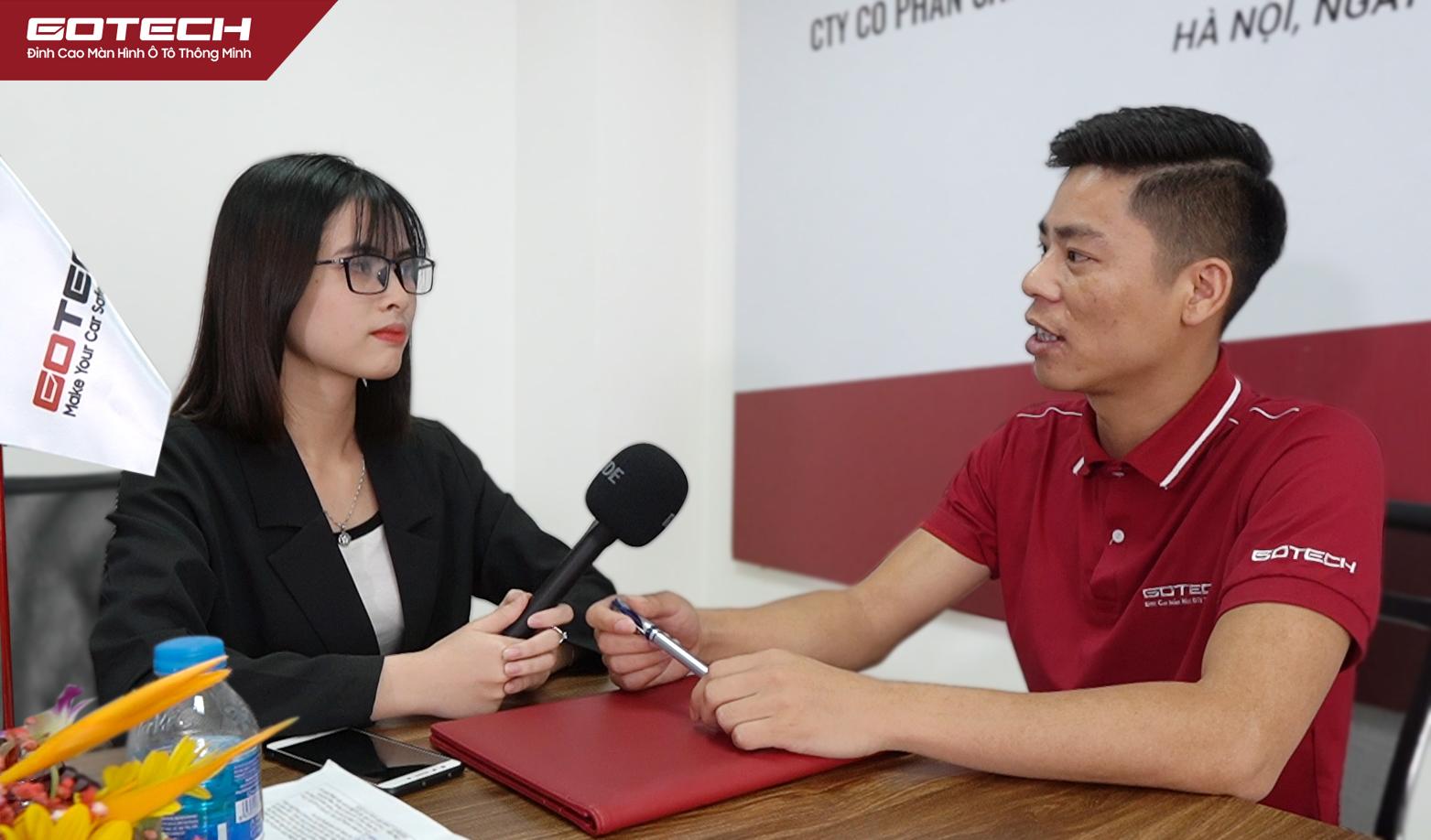 CEO Nguyễn Văn Đồng - Đại diện thương hiệu GOTECH nhấn mạnh sẽ luôn đồng hành cùng Hà Thành Garage