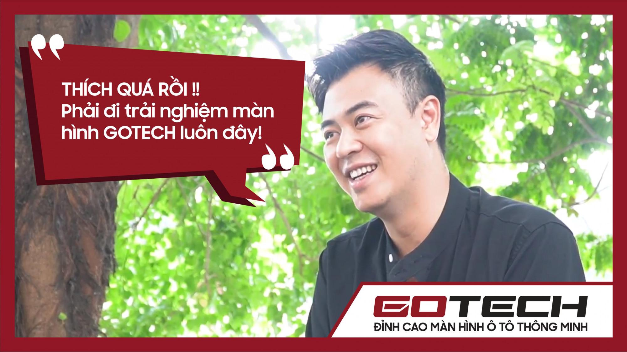 MC Diễn viên Tuấn Tú thích thú trải nghiệm màn hình ô tô thông minh GOTECH