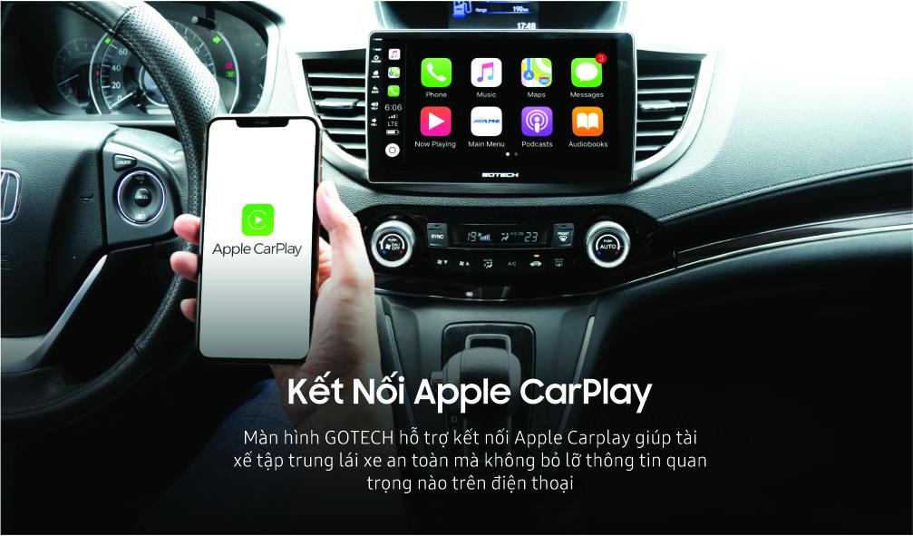 Kết nối Apple Carplay trên màn hình Android GOTECH
