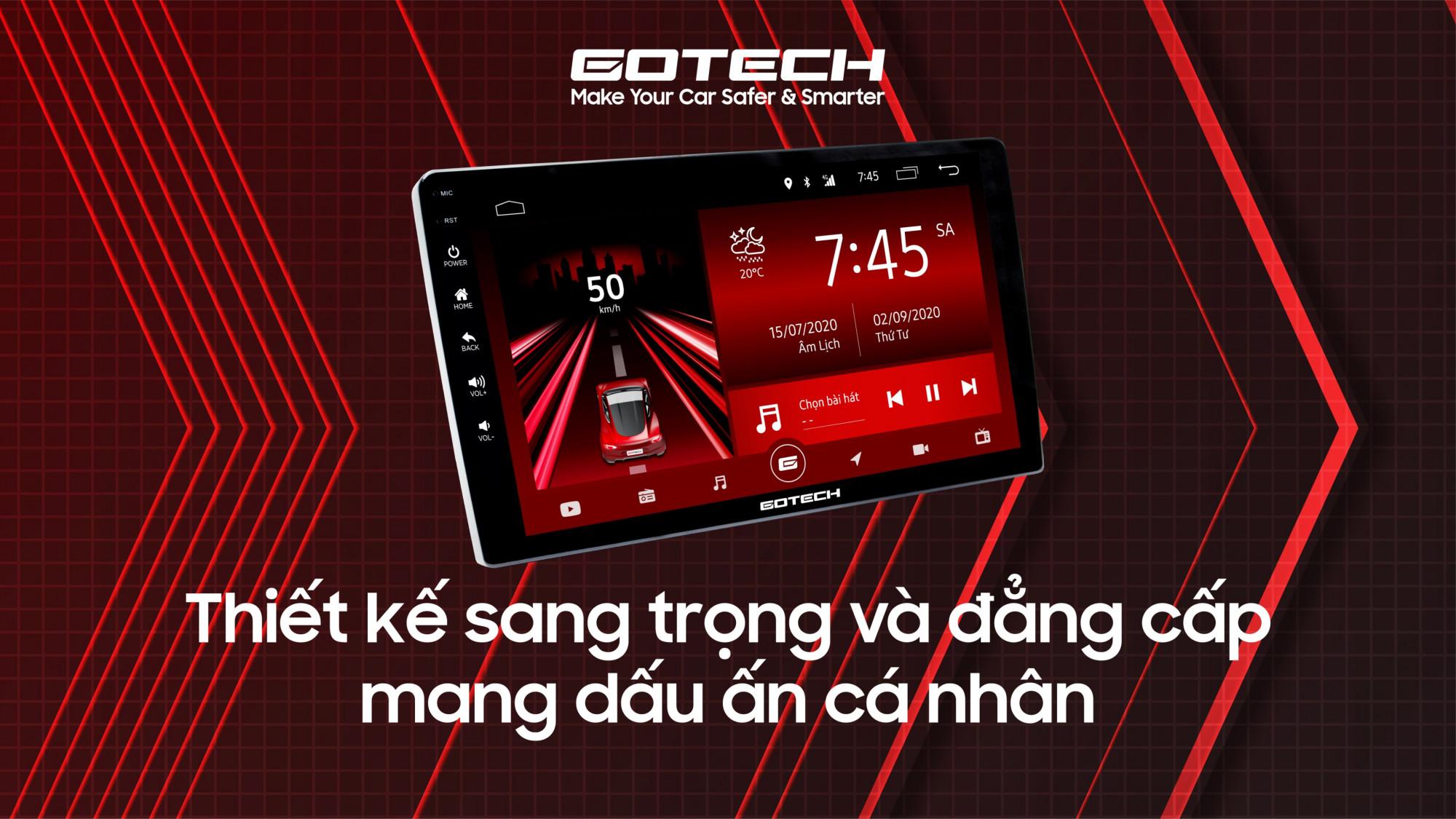 Giao diện màn hình GOTECH không chỉ đẹp, sang trọng mà còn xây dựng dựa trên hành vi người dùng