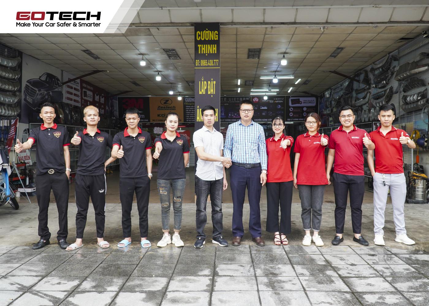 Nội thất ô tô Cường Thịnh trở thành đối tác mới của GOTECH ở Quảng Ninh.