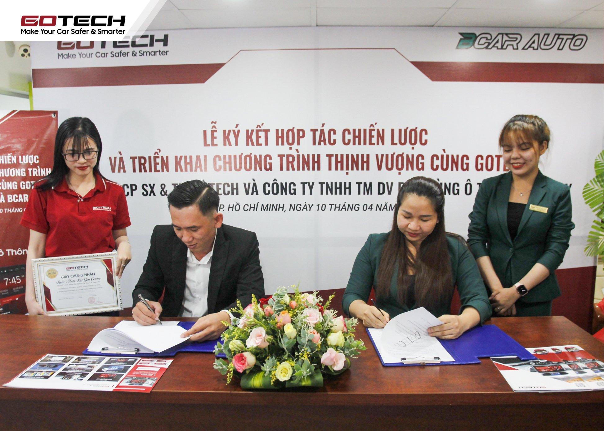 GOTECH và Bcar Auto Center trở thành đối tác thân thiết của nhau, cùng nỗ lực vì sự thịnh vượng chung.