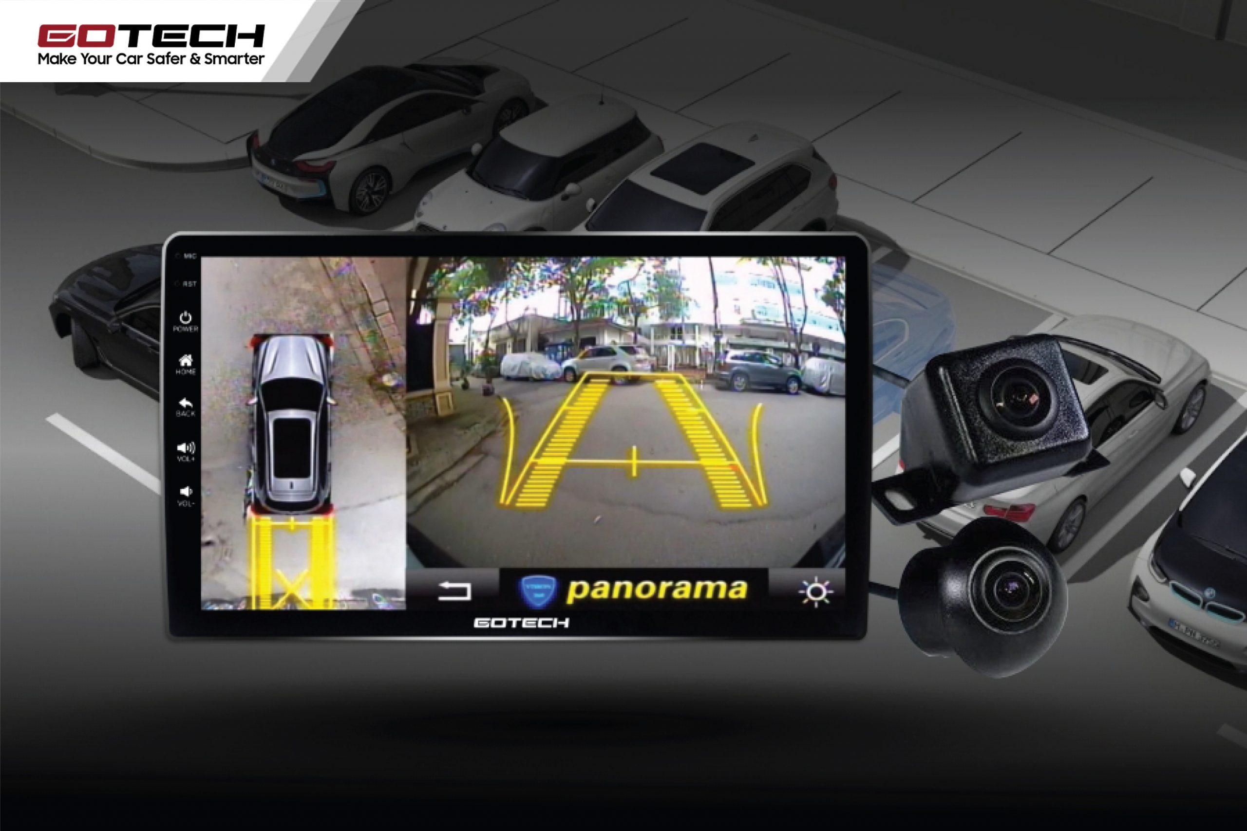 Màn hình liền camera 360 độ hỗ trợ quan sát toàn cảnh khi lái xe.