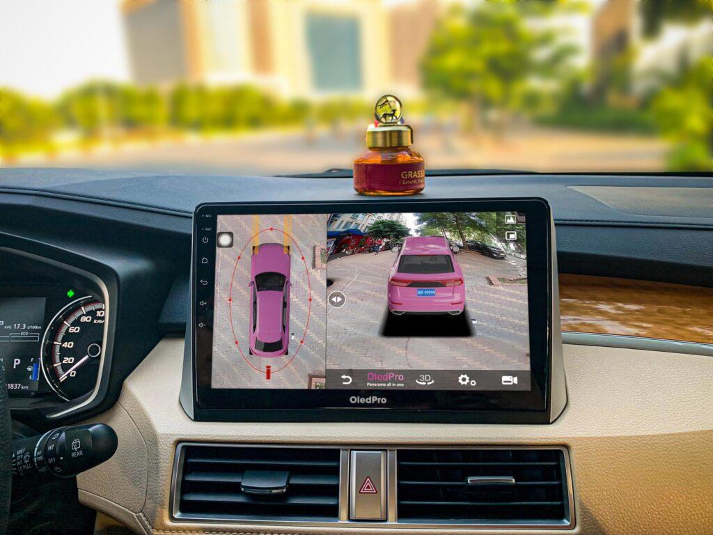 Màn hình Android tích hợp camera 360 độ Oled.