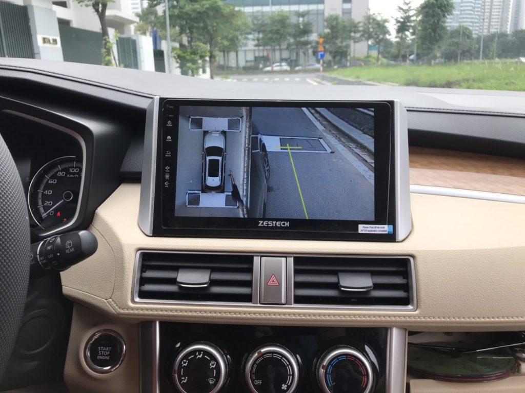 Màn hình ô tô tích hợp camera 360 Zestech.