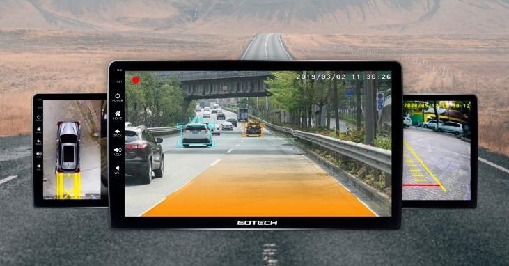 Hệ thống camera 360 mở rộng tầm nhìn toàn cảnh.