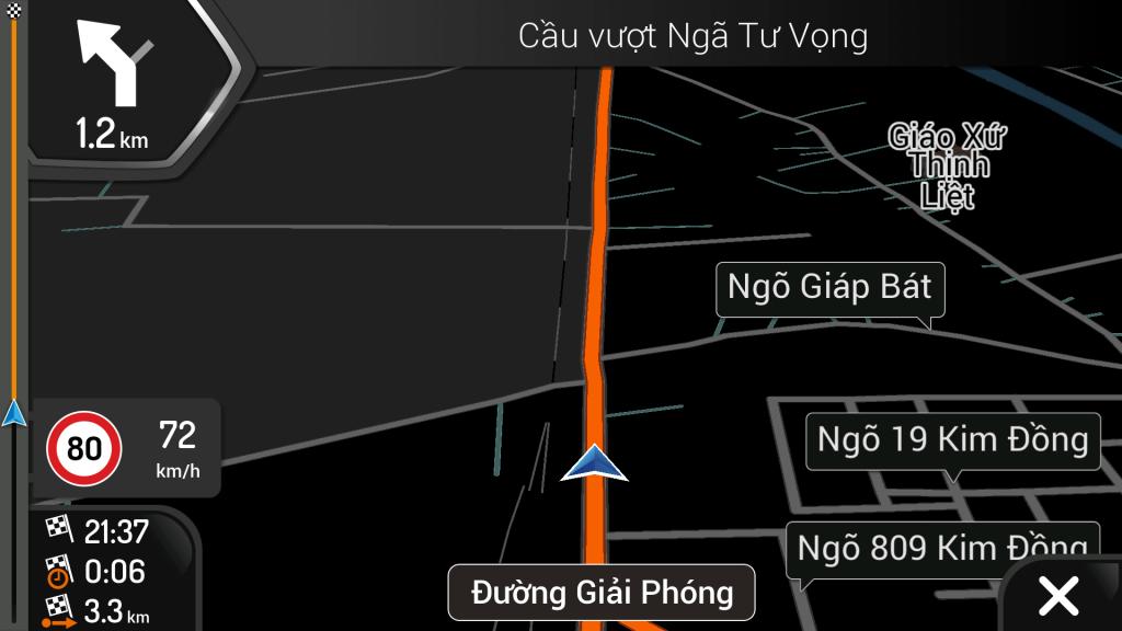 Hình ảnh bản đồ dẫn đường iGO Primo
