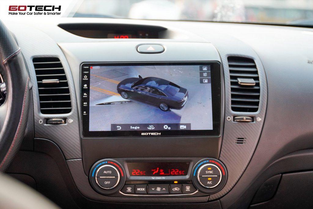 Lắp camera 360 độ cho ô tô giúp mở rộng tầm quan sát, đem đến góc nhìn toàn cảnh xung quanh xe.