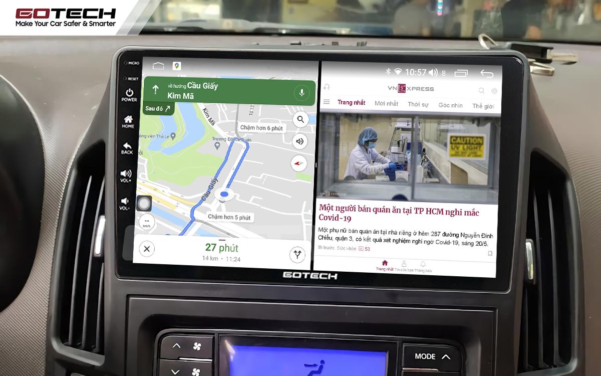 Chạy đa nhiệm ứng dụng mượt mà trên màn hình ô tô GOTECH cho xe Hyundai i30 2008-2013