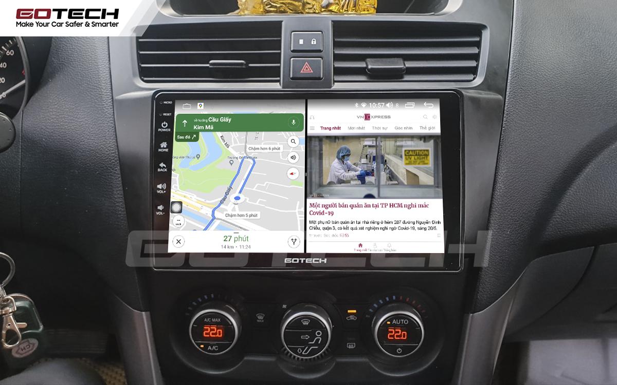 Chạy đa nhiệm ứng dụng mượt mà trên màn hình ô tô GOTECH cho xe Mazda BT50 2012-2018