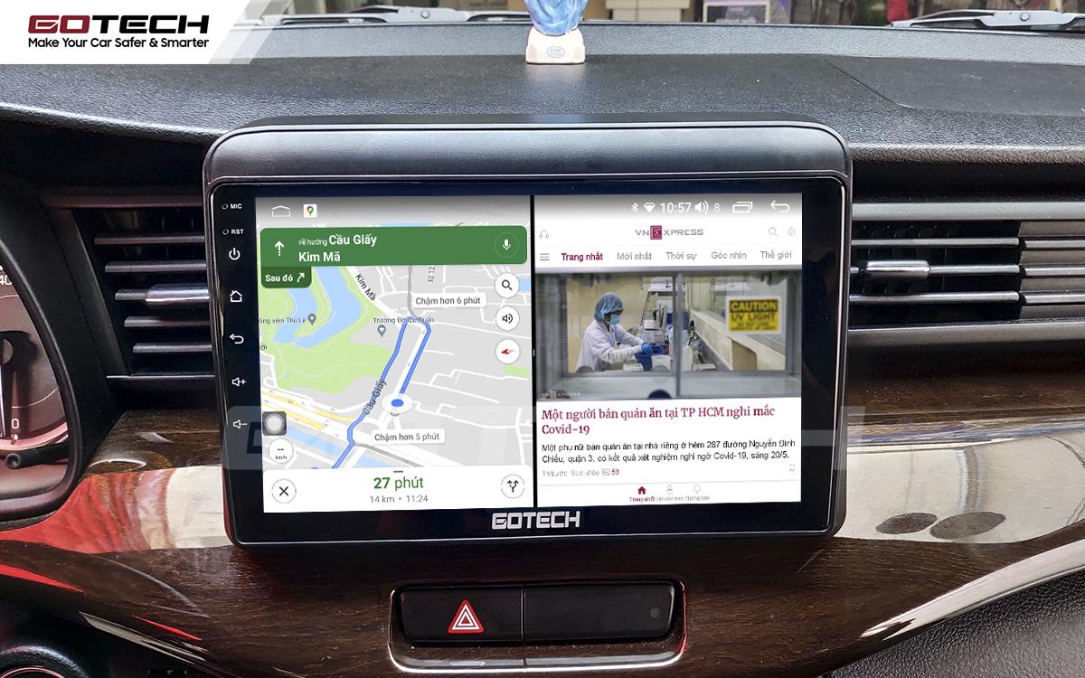 Chạy đa nhiệm ứng dụng mượt mà trên màn hình ô tô GOTECH cho xe Suzuki Ertiga 2019-2020