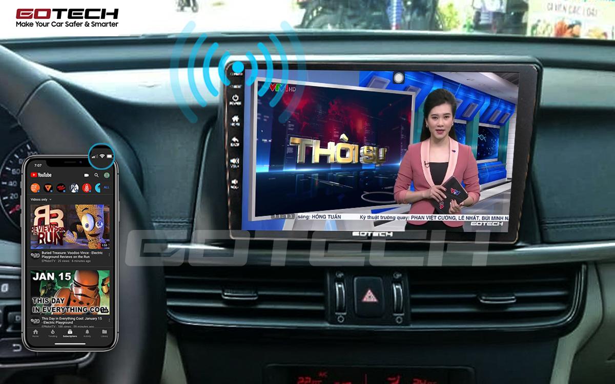 Chia sẻ wifi không cần dùng ổ phát trên màn hình GOTECH cho xe Kia K5 Optima 2017-2020