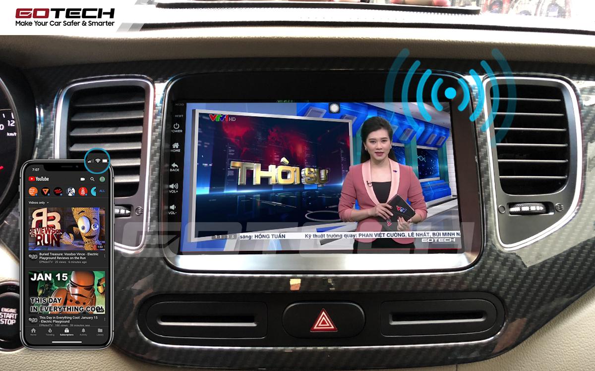 Chia sẻ wifi không cần dùng ổ phát trên màn hình GOTECH cho xe Kia Rondo 2014-2020