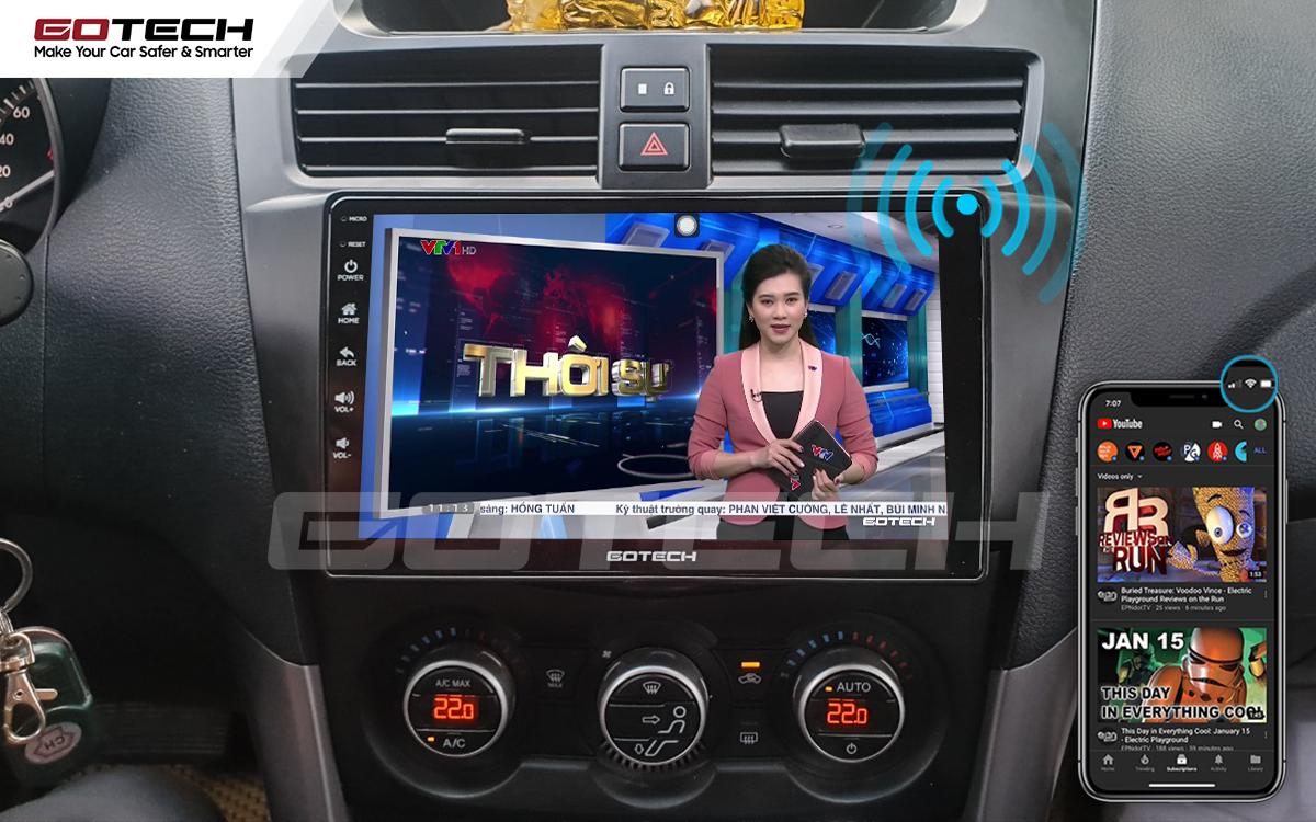 Chia sẻ wifi không cần dùng ổ phát trên màn hình GOTECH cho xe Mazda BT50 2012-2018