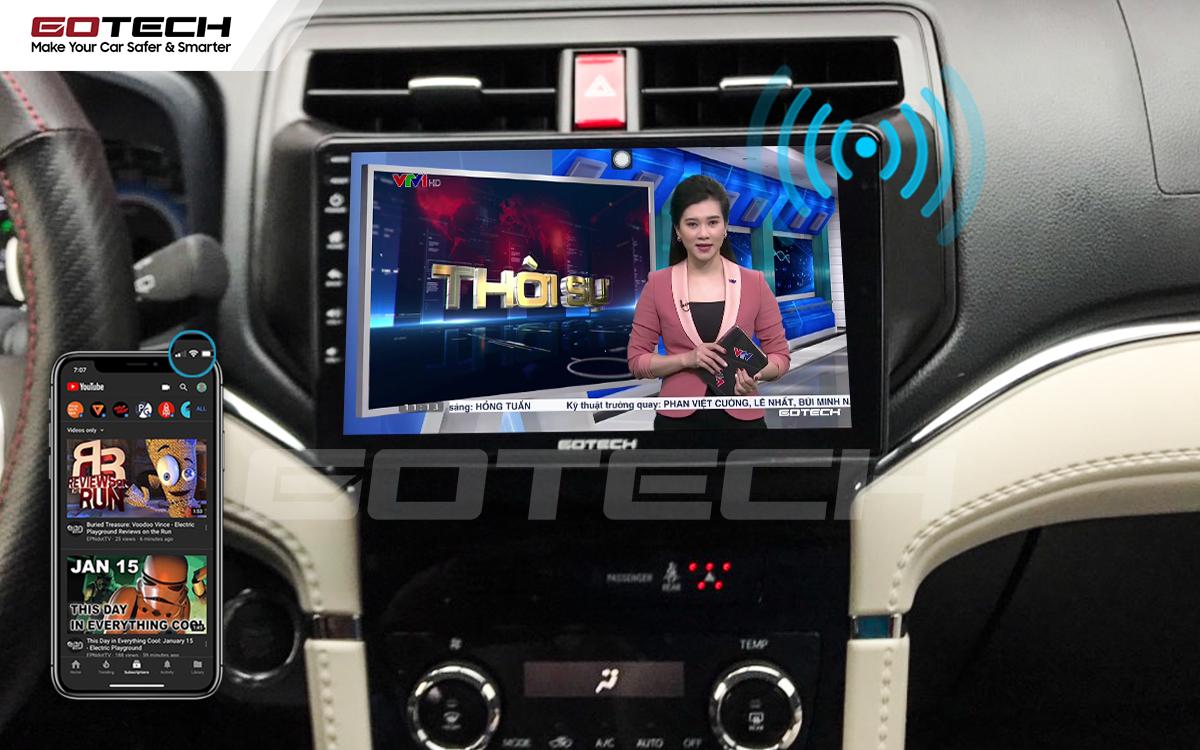 Chia sẻ wifi không cần dùng ổ phát trên màn hình GOTECH cho xe Toyota Rush 2018-2020