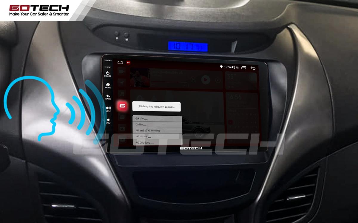 Điều khiển giọng nói qua vô lăng trên màn hình ô tô GOTECH cho xe Hyundai Elantra 2013-2015