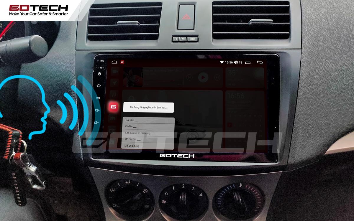 Điều khiển giọng nói qua vô lăng trên màn hình ô tô GOTECH cho xe Mazda 3 2010-2013