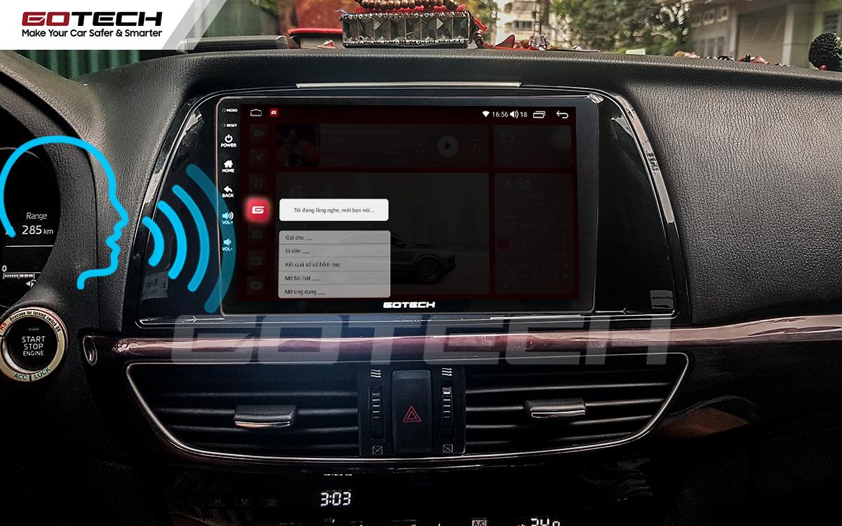 Điều khiển giọng nói qua vô lăng trên màn hình ô tô GOTECH cho xe Mazda 6 2014-2016