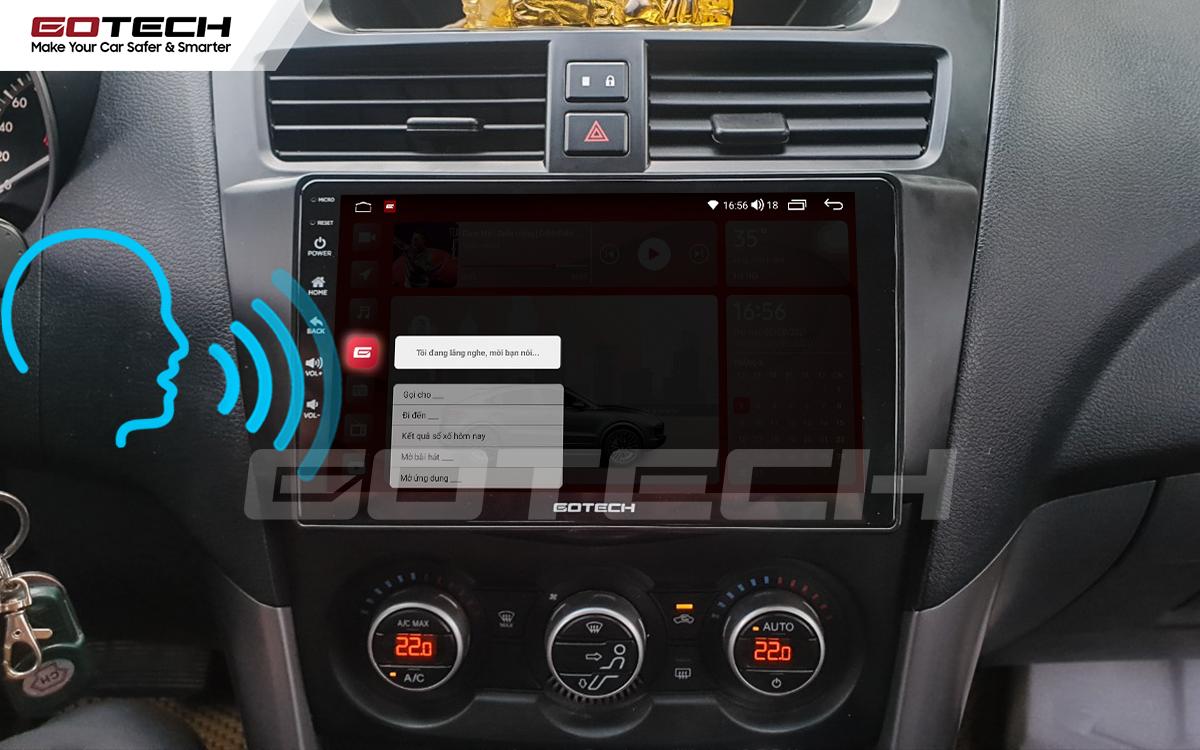 Điều khiển giọng nói qua vô lăng trên màn hình ô tô GOTECH cho xe Mazda BT50 2012-2018