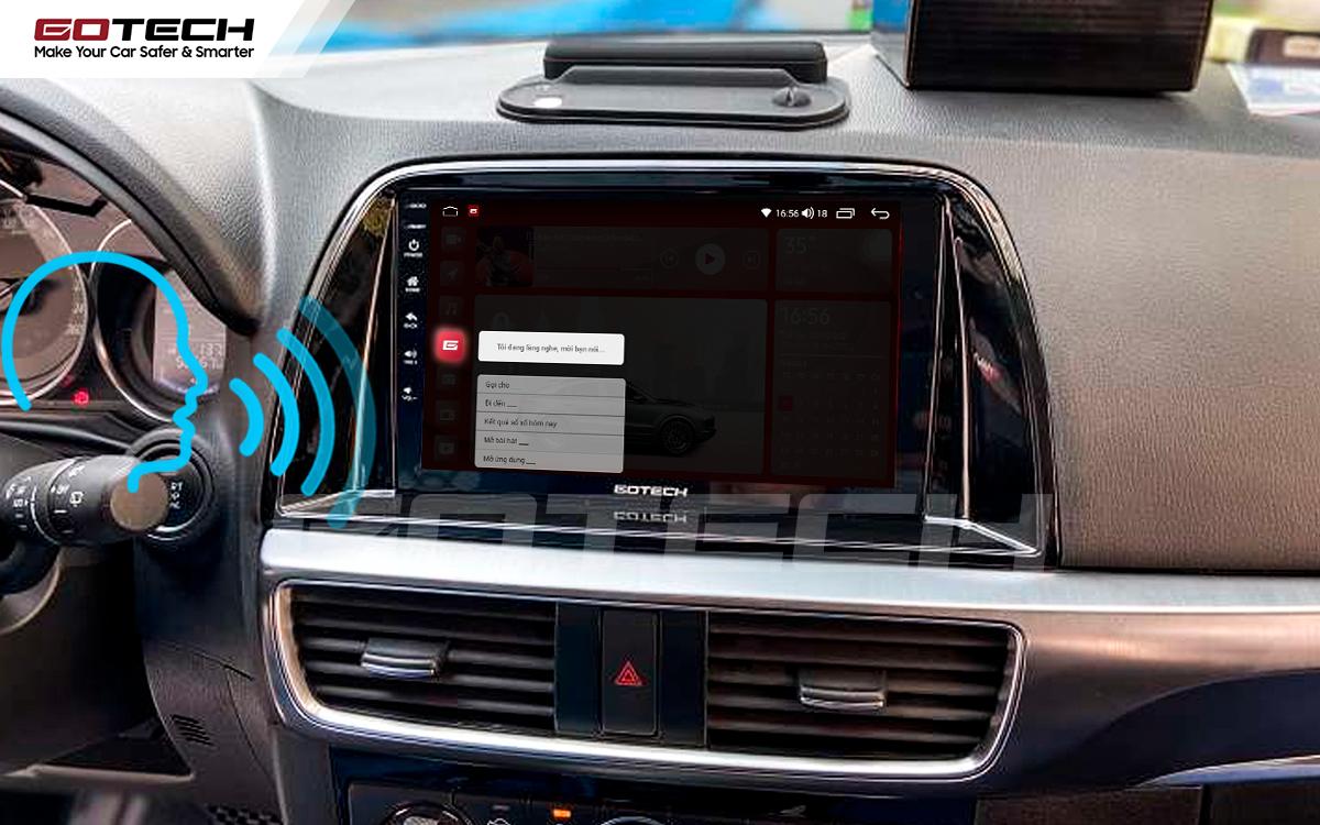Điều khiển giọng nói qua vô lăng trên màn hình ô tô GOTECH cho xe Mazda Cx5 2016-2017