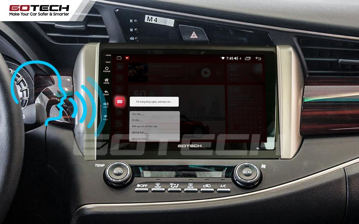 Điều khiển giọng nói qua vô lăng trên màn hình ô tô GOTECH cho xe Toyota Innova 2018-2020