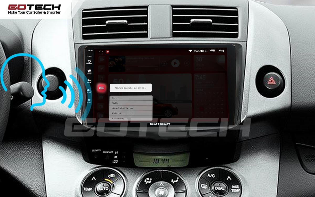 Điều khiển giọng nói qua vô lăng trên màn hình ô tô GOTECH cho xe Toyota Rav4 2006-2011