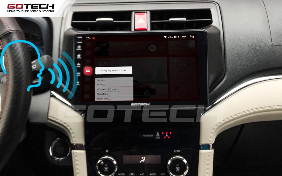 Điều khiển giọng nói qua vô lăng trên màn hình ô tô GOTECH cho xe Toyota Rush 2018-2020