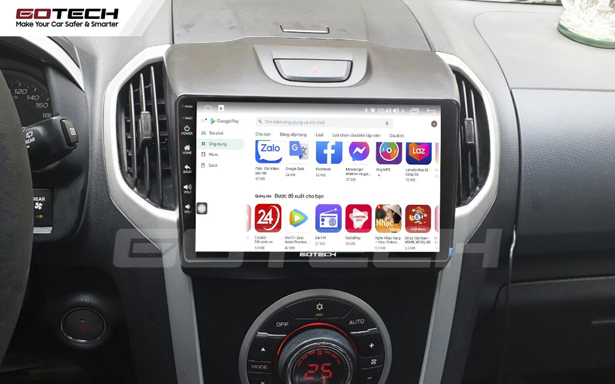 Giải trí đa phương tiện trên màn hình ô tô thông minh GOTECH cho xe Chevrolet Colorado 2015-2016