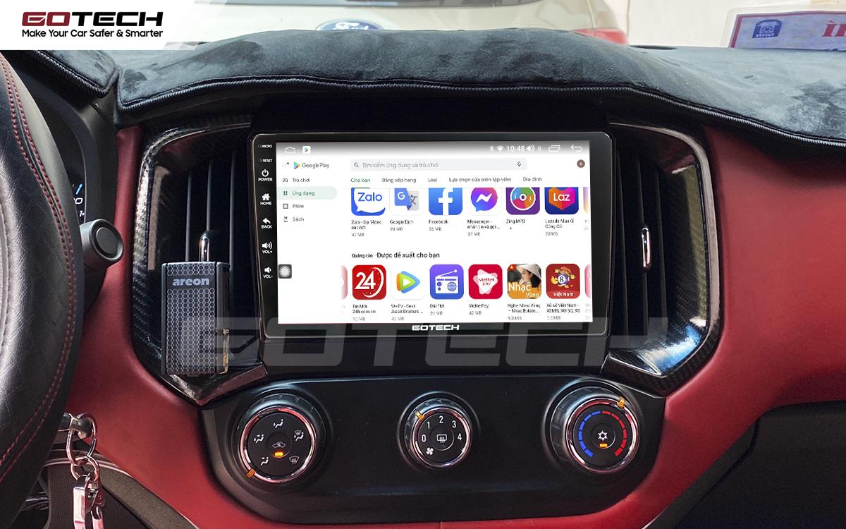 Giải trí đa phương tiện trên màn hình ô tô thông minh GOTECH cho xe Chevrolet Colorado 2017-2020